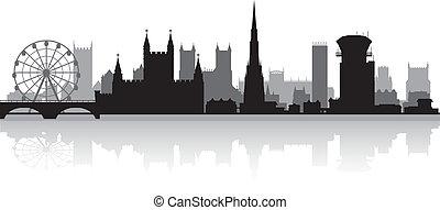 skyline città, silhouette, bristol
