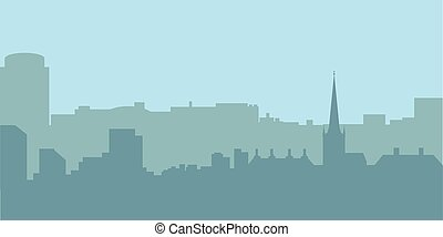 skyline città, vettore