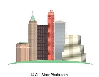 skyline composition vector illustration