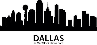 detailed illustration of Dallas, Texas