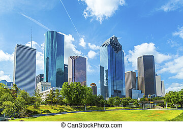 skyline, de, houston, texas