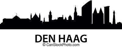 detailed illustration of Den Haag (The Hague), Netherlands