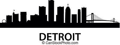 skyline, detroit