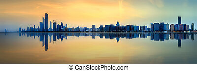 skyline, dhabi, abu