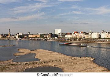 Skyline Duesseldorf - Duesseldorf,Town,River