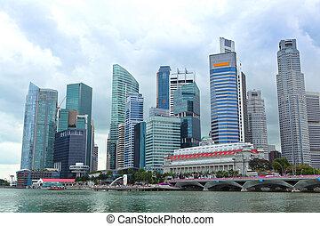 skyline, geschäftsbezirk, singapur