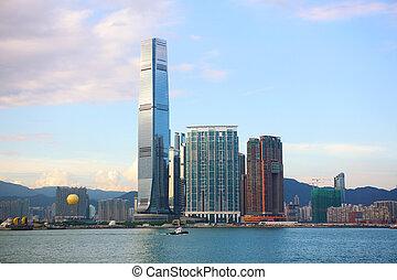 skyline, hongkong