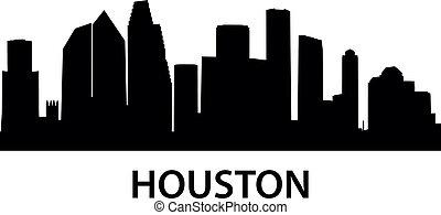 Skyline Houston - detailed illustration of Houston, Texas