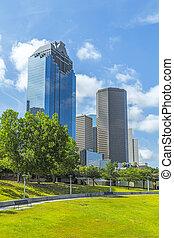 skyline, houston, texas