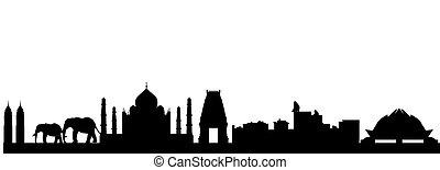 skyline, indien