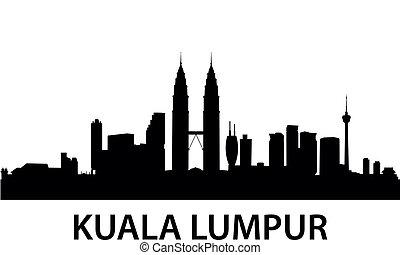 Skyline Kuala Lumpur - detailed vector illustration of Kuala...