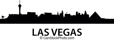 Skyline Las Vegas - detailed illustration of Las Vegas,...