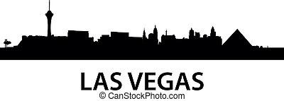 Skyline Las Vegas - detailed illustration of Las Vegas,...