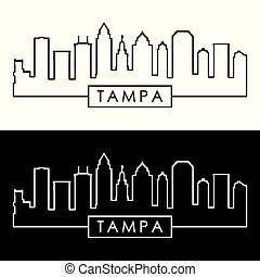 skyline., linear, tampa, style.