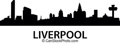 detailed illustration of Liverpool, Great Britain