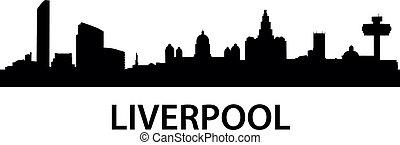 Skyline Liverpool - detailed illustration of Liverpool, ...