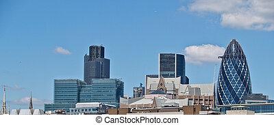 skyline., london geschäft, bezirk