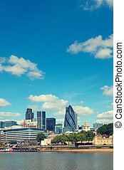 skyline., londres, ville