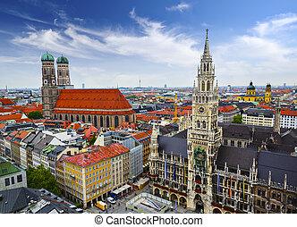skyline, münchen
