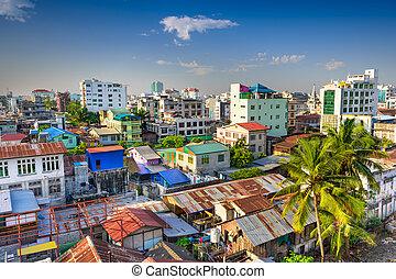 skyline, mandalay, myanmar