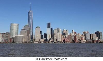 skyline, manhattan, stadt, york, neu