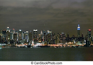 skyline, manhattan
