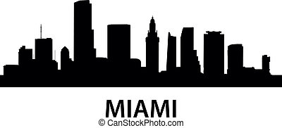 Skyline Miami - detailed illustration of Miami, Florida