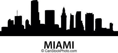 Skyline Miami - detailed illustration of Miami, Florida