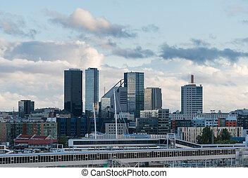 skyline, modernos, tallinn, estónia