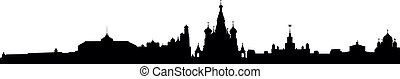detailed vector skyline of Moscow