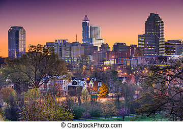 skyline, noorden, raleigh, carolina