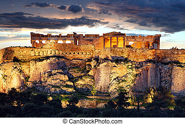 Skyline of Athens with Moanstiraki square and Acropolis...