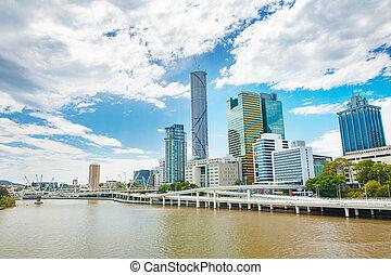 Skyline of Australian city Brisbane