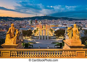 Skyline of Barcelona, Spain