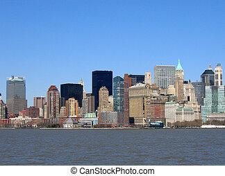 Skyline of buildings