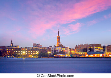 Skyline of Charleston, South Carolina, USA