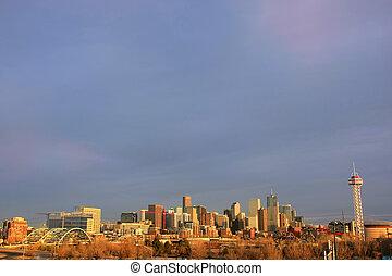Skyline of Denver in Colorado, USA.