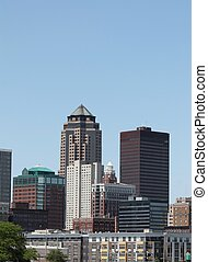 Skyline of Downtown Des Moines - Skyline view of downtown ...