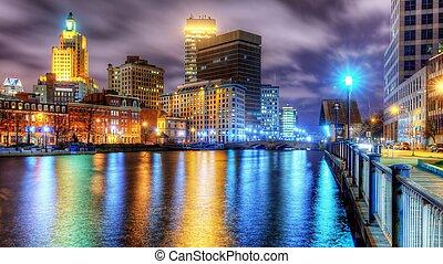 Skyline of downtown Providence, Rhode Island, USA
