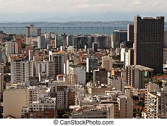 Skyline of Downtown Rio de Janeiro,