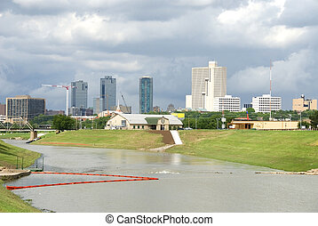 Skyline of Fort Worth, Texas taken from the Trinity River