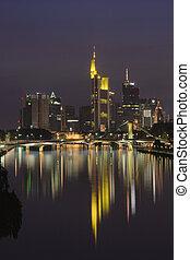 Skyline of Frankfurt am Main at night