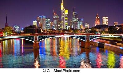 Skyline of Frankfurt, Germany.