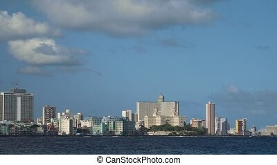 Skyline Of Havana La Habana Cuba With Caribbean Sea