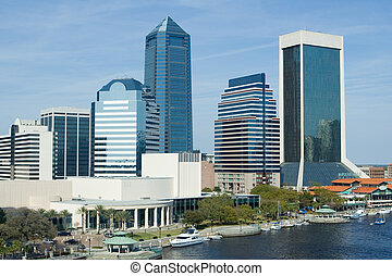 Skyline of the Jacksonville, Florida on the River