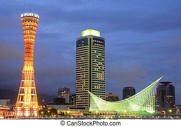 Skyline of Kobe, Japan