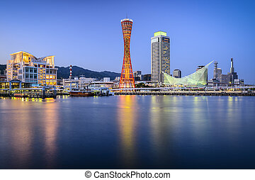 Kobe, Japan - Skyline of Kobe, Japan at the port.