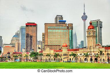 Skyline of Kuala Lumpur from Merdeka Square