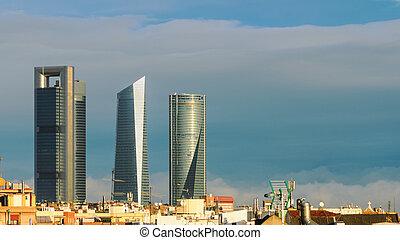 Skyline of Madrid, Spain