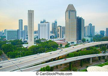Skyline of modern metropolis, Singapore